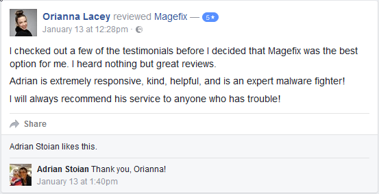 magefix facebook testimonial 3